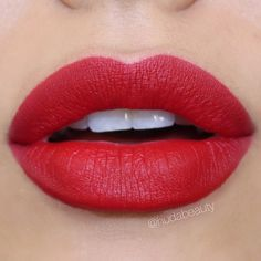 """My absolute favorite drugstore Red Lipstick! L'Oreal """"Eva"""", named after the stunning"""