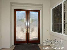 etched glass front doors   These beautiful glass double entr…   Flickr