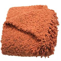 Betsy Coral Boucle Throw