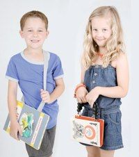 No-sew book bags for boys and girls from Lotta Magazine