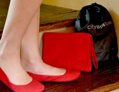 """LOVE carrying these CitySlips foldable flats for a break from """"killer"""" heels.  You can buy them at Neiman's or enter to win them FREE here.  Fun!"""