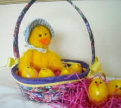 Easter Basket Ready to be Filled! by StitchedByMary on Etsy