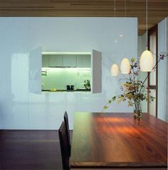 Contemporary serving hatches on pinterest green kitchen for Housedecor deutschland