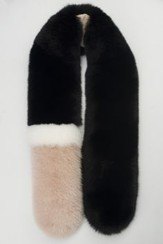 Black and nude fox fur scarf form the 5th Story AW/15 collection