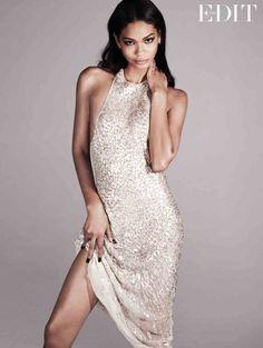chanel iman photo shoot1 Chanel Iman Stars in The Edit, Calls Beyonce Positive and Uplifting