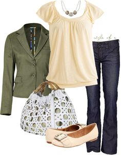 """""""Olive and Beige"""" by styleofe on Polyvore"""