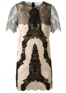 Loyd/Ford black and ivory lace dress
