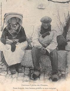 Pêcheur oléronnais et sa femme - Ile d'Oléron vintage, Charente-Maritime, France