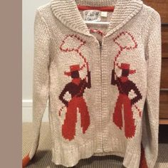 Anthropologie field flowers cowboy sweater EUC s Very rare in perfect condition! Cowichan vintage style but not as stiff Anthropologie Sweaters Cardigans