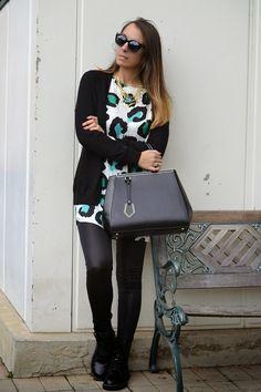 leggings ecopelle outfit - colored leopard print - fendi 2jours