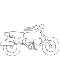 Simple Motorcycle Drawing | Draw me | Pinterest | Drawings, Sketches ...