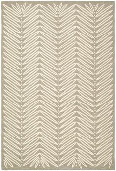 MSR3612A-Chevron Leaf rug by Safavieh - Collection: Martha Stewart - Color: Chamois Beige - Construction: Tufted Viscose