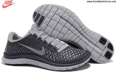 Wholesale Discount Mens Nike Free 3.0 V4 Anthracite Reflect Silver Wolf Grey Shoes Fashion Shoes Store