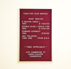 Ca$h for your Warhol