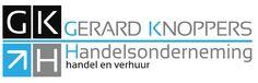 Logo voor 'Gerard Knoppers Handelsonderneming'. Ontworpen door Rontwerp design.