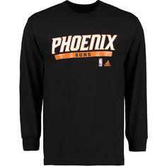Phoenix Suns adidas Cut and Paste Long Sleeve T-Shirt - Black