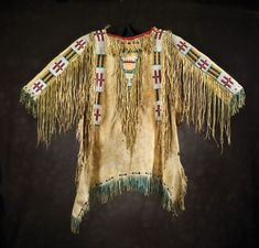 Sioux Man's Beaded & Fringed Shirt, c 1880