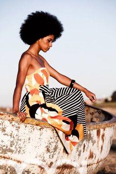 Big Afro | African Print Maxi Dress