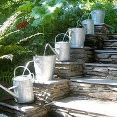 .Like the layered sluice system. Not the watering cans