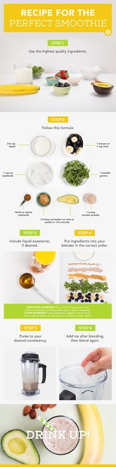 """Sure, pressing """"purée"""" can get the job done, but these tips make every blend so much better. #healthy #smoothie #recipe https://greatist.com/eat/how-make-perfect-smoothie"""