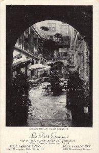 Amazon.com: 1940s Vintage Postcard - Italian Courtyard - Le Petit Gourmet Restaurant (619 N. Michigan Avenue) - Chicago Illinois: Everything Else