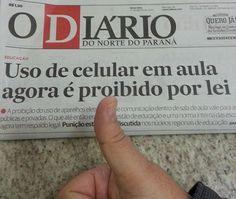 PROF. FÁBIO MADRUGA: USO DE CELULAR EM AULA AGORA É PROIBIDO POR LEI !