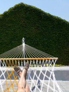diy woven hammock! - looks like a fun project