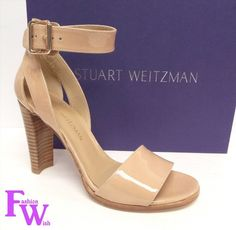 199.00$  Watch now - http://vigfd.justgood.pw/vig/item.php?t=bne3wjo53934 - New STUART WEITZMAN Size 7 B partly Nude Adobe Patent Heels Sandals Shoes 199.00$