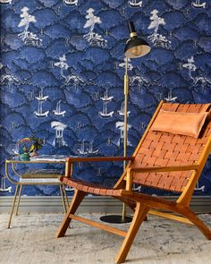 WAVES OF TSUSHIMA Wallpaper Marvel Wallpaper, Cool Wallpaper, Pattern Wallpaper, Waves, Mind The Gap, Outdoor Chairs, Outdoor Decor, Eclectic Design, Burke Decor