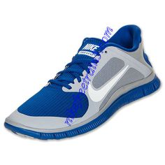 56a417a37089 Nike Free 4.0 V3 Womens Wolf Grey White Hyper Blue 579958 014 Free Running  Shoes