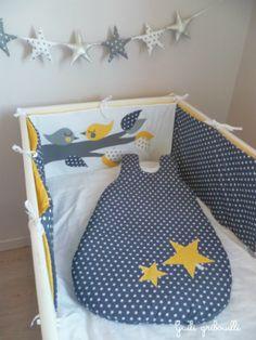diy tour de lit bébé Rupture de stock tour de lit et gigoteuse étoile patchwork gris  diy tour de lit bébé