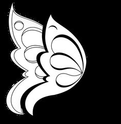 butterfly silhouette clip clipart drawings tattoos clipartfest side line tattoo coloring pages easy different