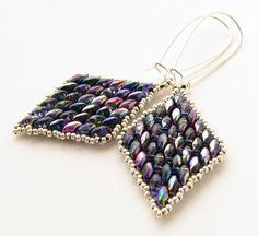 Superduo earrings made by myself