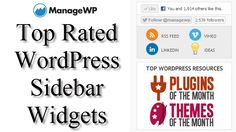 What is your favorite sidebar widget for WordPress? Sidebar widgets are an important part of most blogs. The majority of all WordPress blogs have sidebars and contain at least one widget. Here are the top 30 to choose from.