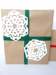 Handmade Wrapping Paper and Snowflakes