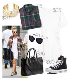 """""""Miley Cyrus Look"""" by vintage2modern ❤ liked on Polyvore featuring Cyrus, Converse, Belk Silverworks, mileycyrus, CelebrityStyle, copycat and cheaper"""