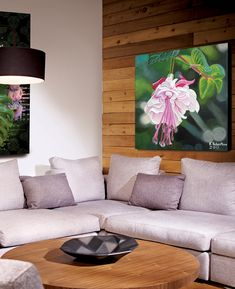 These large wall art canvas prints of the incredible Lifestyle Floral Paintings from Canadian Artist Kathy Robertson will bring colour, creativity and vibrance to the interior design of any home, office or gallery setting.