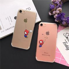 Cheap case for iphone, Buy Quality phone cases directly from China case plus Suppliers: Thick Clear Soft TPU Funny Spiderman Fundas Phone Cases for iPhone 7 SE 5 6 Plus Transparent Cover Coque Funny Phone Cases, Ipod Cases, Diy Phone Case, Iphone Phone Cases, Cellphone Case, Best Friend Cases, Friends Phone Case, Spiderman Phone Case, Iphone 7 Plus
