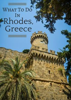 Rhodes is the largest, and perhaps the most famous, of the gorgeous Greek Dodecanese Islands. What to do, where to stay and how to see the best of Rhodes. Greece Cruise, Greece Vacation, Greece Travel, Cruise Vacation, Santorini, Places To Travel, Places To See, Greece Rhodes, Formation Continue