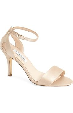 Champagne / Nude: Nina 'Venetia' Ankle Strap Sandal (Women) available at #Nordstrom