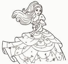 Image Result For Barbie Doll Drawing With Colour Princess Coloring Pages Barbie Coloring Barbie Coloring Pages