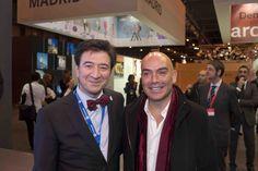 Manuel López, CEO de #InterMundial, con Kike Sarasola, Presidente de RoomMate  #Fitur2014