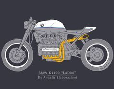 "550 Likes, 4 Comments - GIORGIO DE ANGELIS (@deangeliselaborazioni) on Instagram: ""BMW K100 Super Skrambler and Super International DJ Producer @cristianmarchi - Made in Italy -…"""
