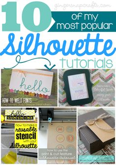 10 of my most popular Silhouette tutorials at GingerSnapCrafts.com #SilhouetteCAMEO #SilhouettePortrait #spon