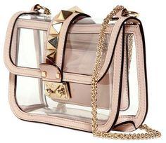 VALENTINO, Lock Pvc Shoulder Bag in Transparent