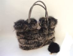 Genuine fox fur bag real fox handbag laptop bag real fox by BeFur