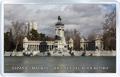 $3.29 - Acrylic Fridge Magnet: Spain. Madrid. Retiro Park