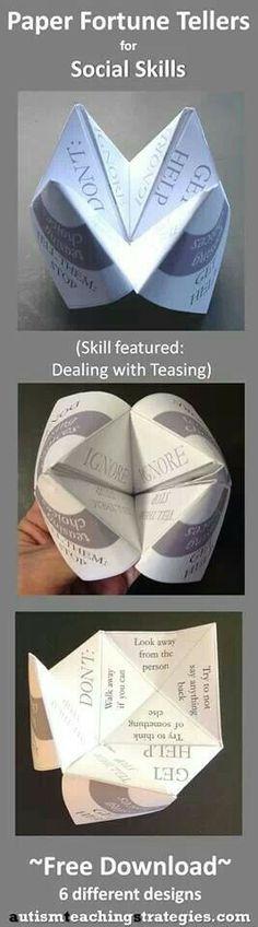 Fortune teller for teaching social skills