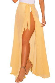 Chic White Sheer Wrap Maxi Beach Skirt MB42275-7 – ChicLike.com Beach Skirt c1cd38e00