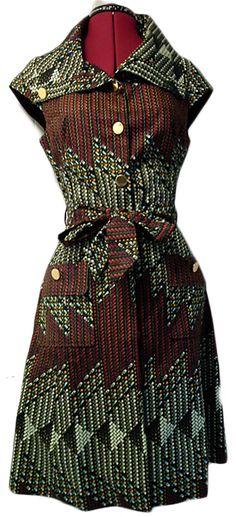 NEW  Rustic ankara coat dress by GITAS PORTAL by Gitasportal2011, £90.00